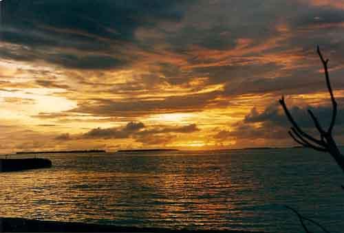 Maldives Sunset Light Prevails